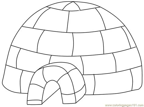 igloo coloring page free coloring pages igloo peoples gt royal family free