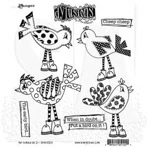 Where To Put Stamp by Dylusions Cling Mount Stamps Put A Bird On It Dyr51251