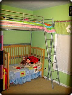 bunk bed with crib underneath cribs beds and bunk bed on pinterest