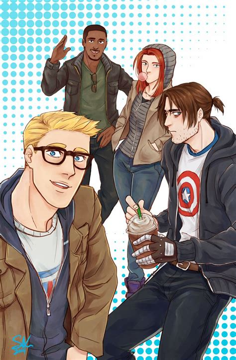 Army Sam Wilsons Captain America Print T Shirt 396 best images about on romanoff clint barton and bucky