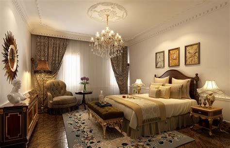 Chandeliers In Bedrooms New Classical Bedroom Chandelier Rendering 3d House Free 3d House Pictures And Wallpaper