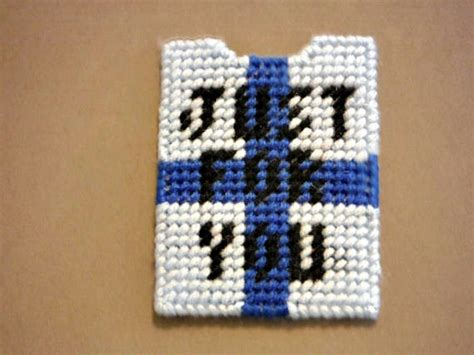 Plastic Gift Card Holders - gift card holder just for you plastic canvas needlepoint