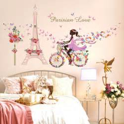 Butterfly Wall Stickers For Kids Rooms paris wall sticker for kids rooms eiffel tower flower butterfly