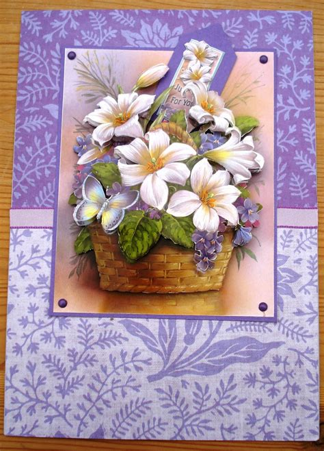 card decoupage looby s place floral decoupage card
