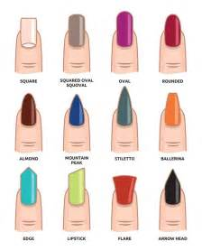 shape and color nails best 25 different nail shapes ideas on nails