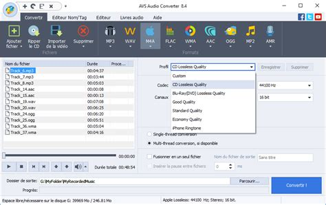 format audio converter avs4you audio converter pour convertir audio en la plupart