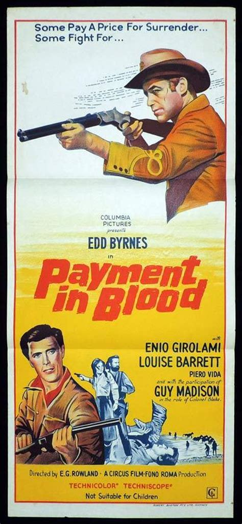 Ask A Question Payment In Blood Daybill Movie Poster Ed