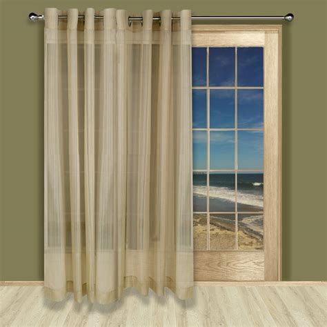 atlantic window coverings atlantic stripe grommet patio panel home home decor