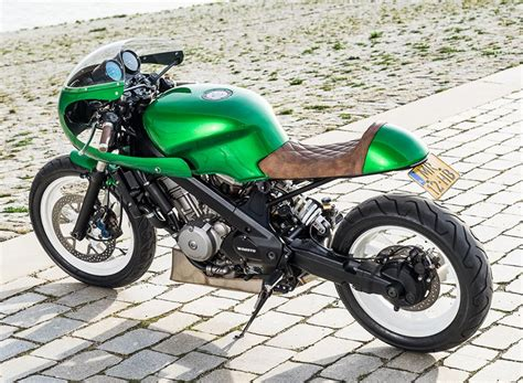 designboom motorcycle the honda ntv650 green goblin custom motorcycle by wimoto