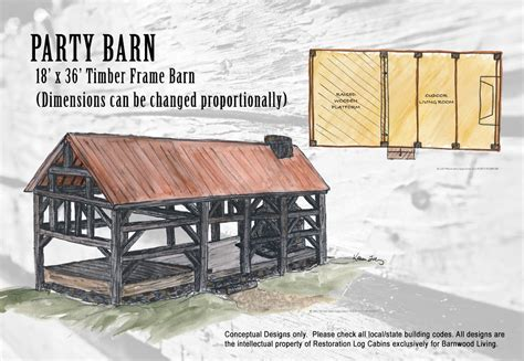 party barn plans design barnwood living