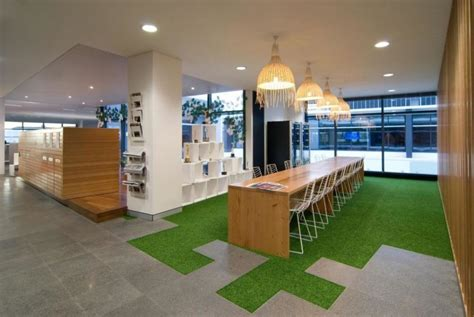 Grass Interior Design by Artificial Grass In Corporate Office Vancouver Office Design Vancouver Interior Designers