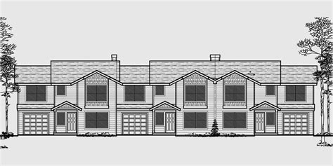triplex house plans townhouse with 2 car garage triplex house plan triplex plan w garage townhouse plan