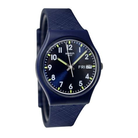 Swatch Gb753 swatch gn718 sir blue analog day date silicone unisex new