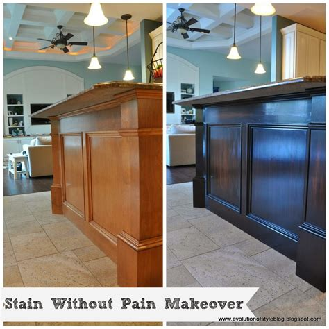 Gel Stained Cabinets Before And After by How To Stain Without The Breakfast Bar Evolution