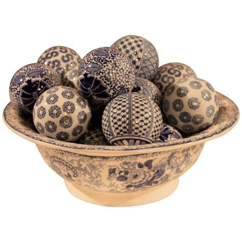 blue decorative balls australia blue and white ceramic bowl with decorative balls for sale