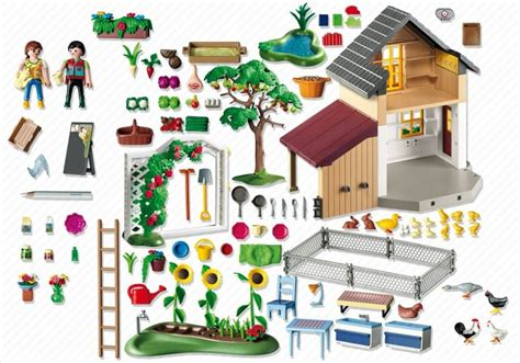 playmobil stall playmobil set 5120 farmhouse with market stall