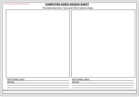 design technology cover worksheets computer aided design presentation sheets