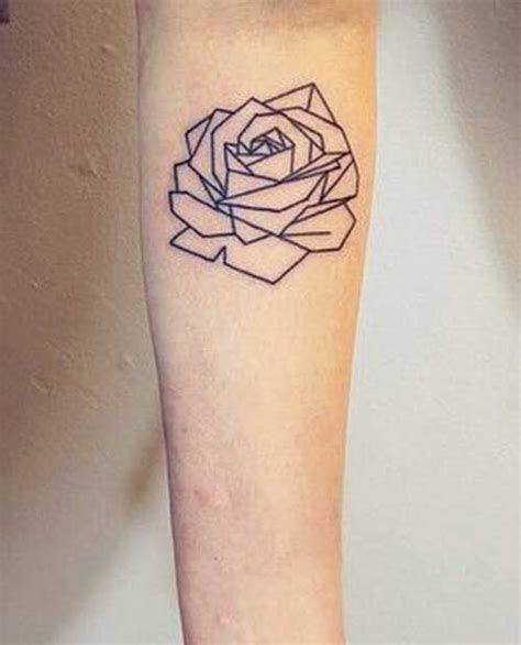 nice geometric rose tattoo golfian com