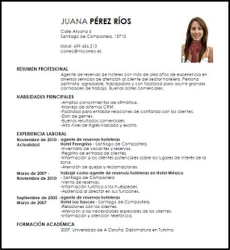 Modelo Curriculum Vitae Hotelero Modelo Curriculum Vitae Agente De Reservas Hoteleras Livecareer