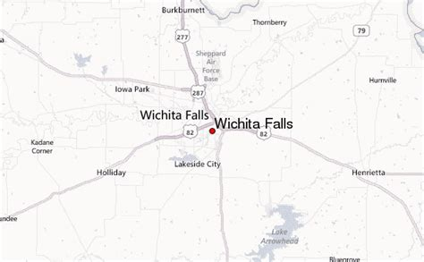 wichita falls texas map wichita falls location guide