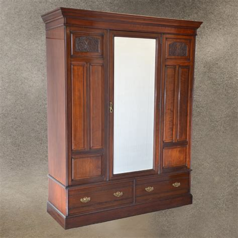 vintage armoire wardrobe antique walnut wardrobe armoire top quality english