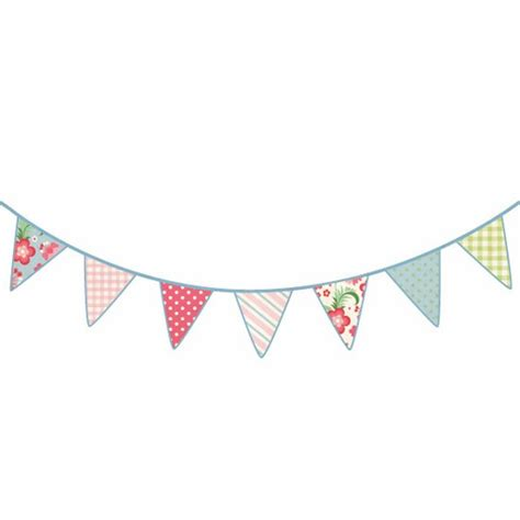 vintage bunting wall sticker from wall glamour wall