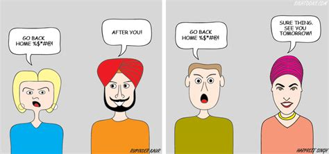 Go Back Home by A Sikh But Not Caption Contest Sikh With A