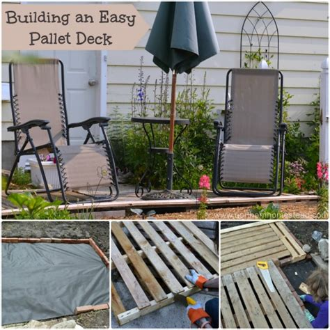 how to build a building building an easy pallet deck northern homestead