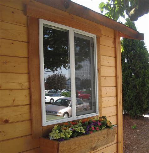 Shed Window Trim by Mighty Cabanas And Sheds Pre Cut Cabins Sheds Play