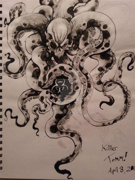 skull octopus tattoo skull octopus by killertomm deviantart on deviantart