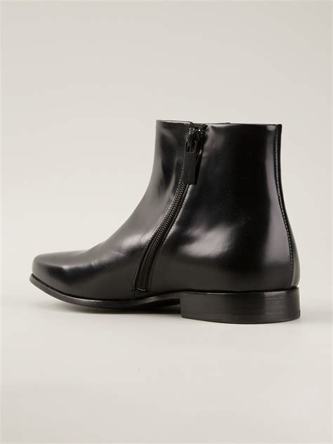kenzo mens boots kenzo almond toe ankle boots in black for lyst