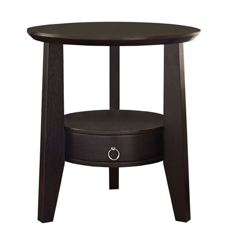 accent table with drawer accent table in cappuccino with drawer i 2491
