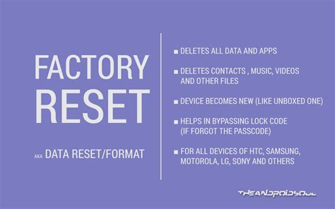format factory data recovery how to hard reset or factory reset and format android