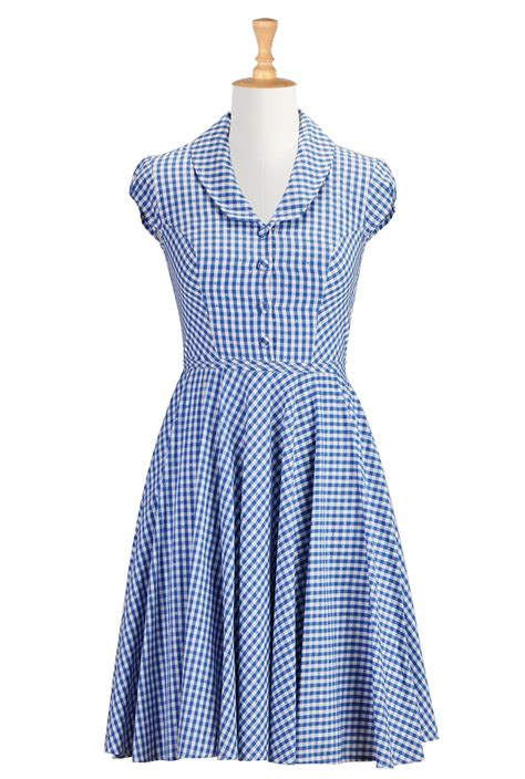 gingham dress gingham check it out 1950 s household retro sweet