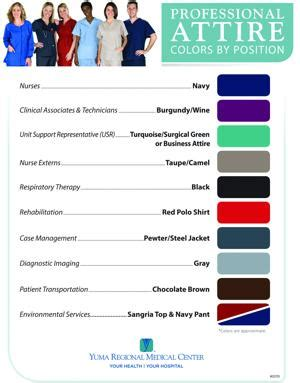 scrub color code yrmc implements color coding system for scrubs yuma sun