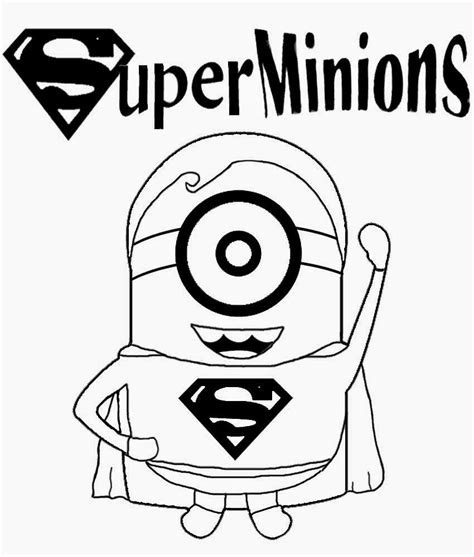 minion coloring page clipart childrens film free minion clipart cartoon superhero
