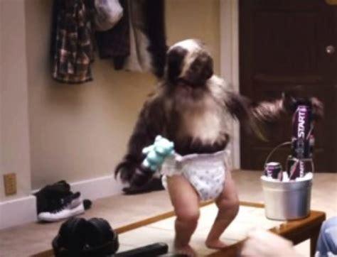 kickstart commercial puppy monkey baby puppy monkey baby kickstart s creepy combination persuade the lizard