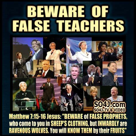 beware of beware of false prophets