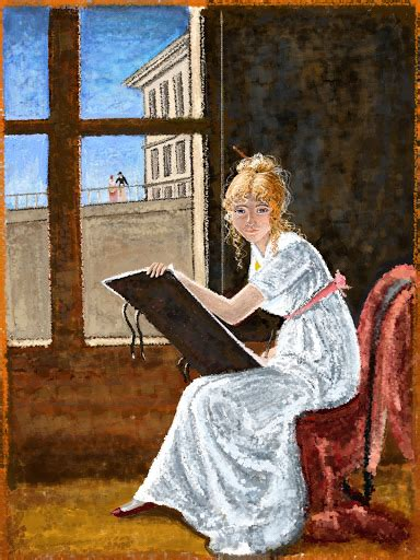 young woman drawing 1801 marie denise villers self portrait young woman drawing