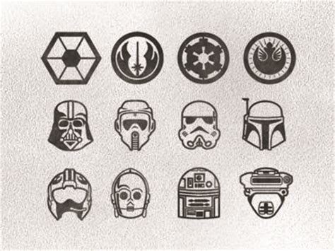small star wars tattoos wars icon set by steven schroeder dribbble