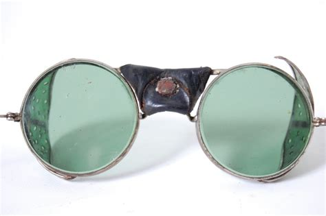 motorcycle goggles vintage green safety glasses motorcycle goggles antique aviation steunk ebay