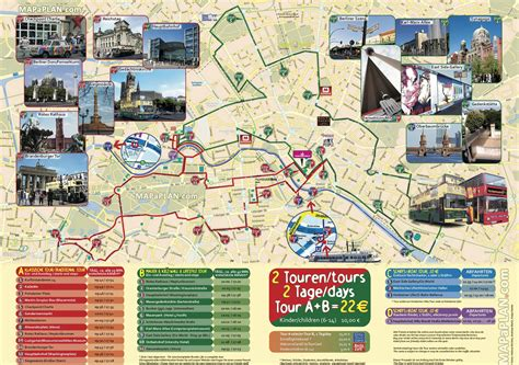 germany attractions map berlin map city circle sightseeing tour stops