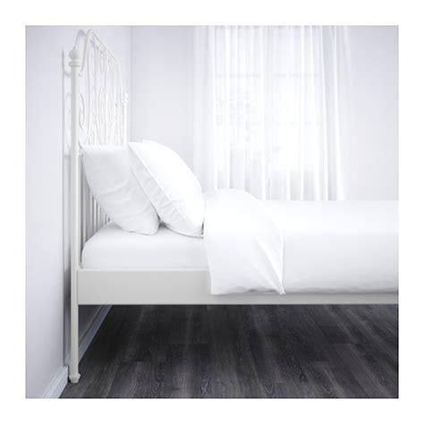 ikea white bed frames leirvik bed frame white l 246 nset standard ikea