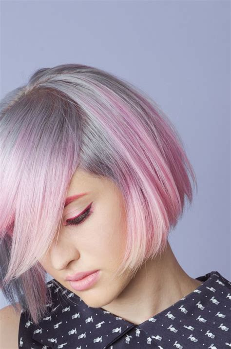 dyed grey hairstyles dip dye dyes and dips on pinterest