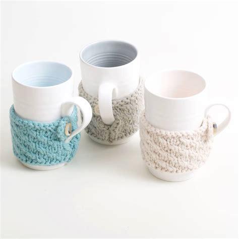 knitting mug knitted mug cosy by bloomfield