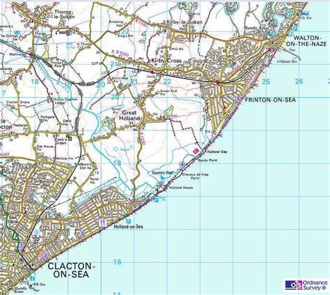 clacton on sea map essex walks clacton on sea to walton on the naze