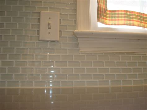 Glass Subway Tiles For Kitchen Backsplash Clear Glass Subway Tiles Clear Tile Backsplash Image