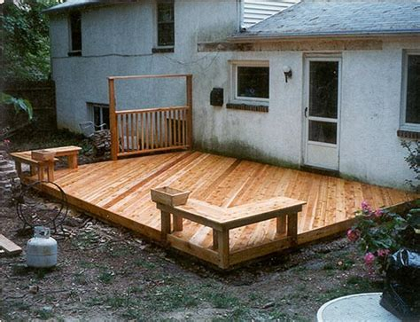 Backyard Deck Ideas Ground Level Ground Level Decks Pa Deck Builders And Patio Contractors