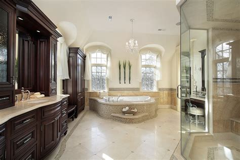 luxury master bathroom designs master bathroom in luxury homes images elsoar