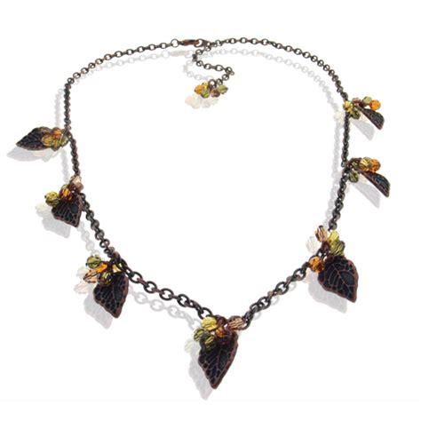 swarovski jewelry kits autumn leaves swarovski necklace kit jewelry and